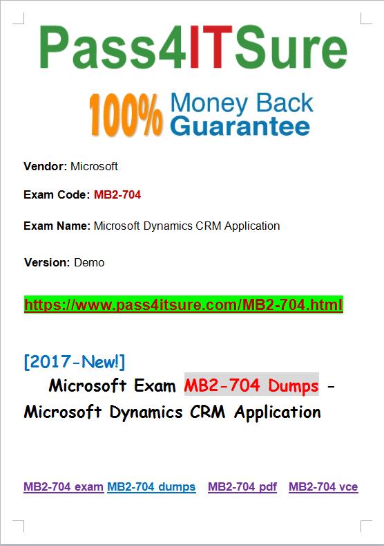 MB2-704 dumps