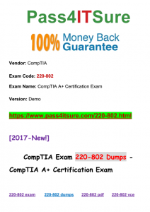Pass4isture CompTIA 220-802 Dumps