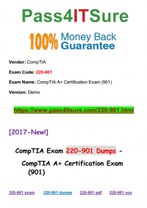 Pass4isture CompTIA 220-901 Dumps