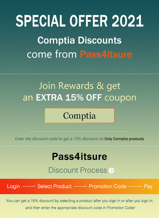 Pass4itsure CompTIA exam discount code 2021